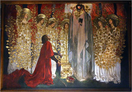 Edwin Austin Abbey - Te Quest and Achievement of The Holy Grail, 1895