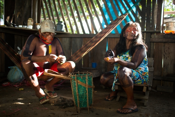 "Bepoti and his wife Kopri are the two elders of Poti-Kro. It is the elders' responsibility to pass on the tribe's myths and stories. Villagers are unwilling to share these stories to outsiders, because they are considered the elders' ""property."""