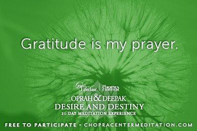 gratitude is my prayer