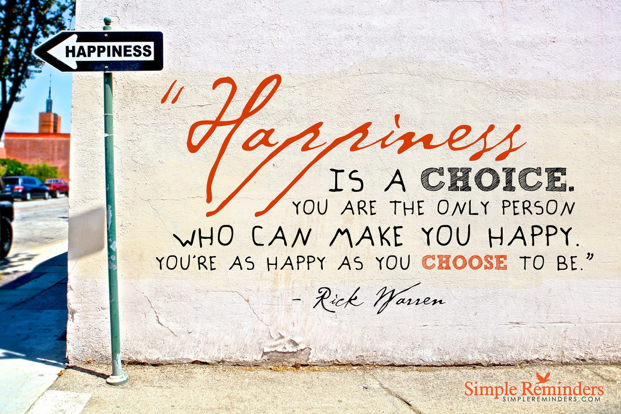 Happiness Is a Choice Choose to Be Happy