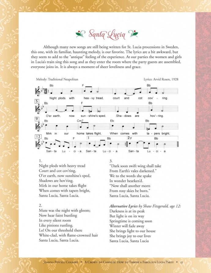 santa lucia song
