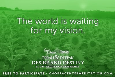the world is waiting for my vision