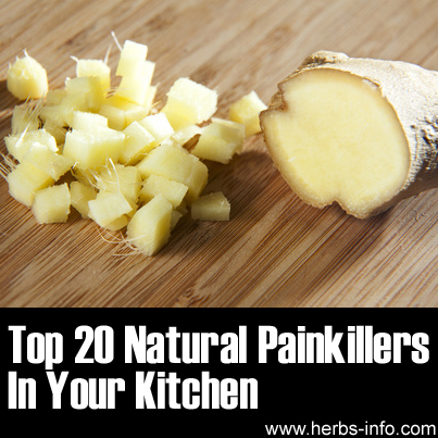 top 20 natural pain killers in your kitchen