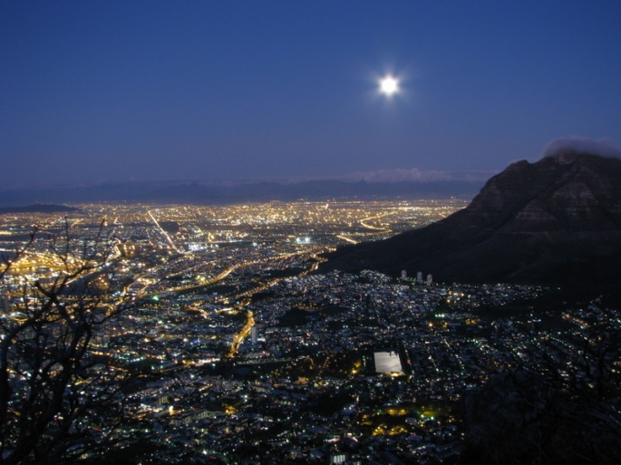 creative commons lions head full moon