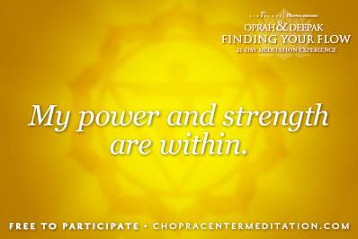 my power and strength are within