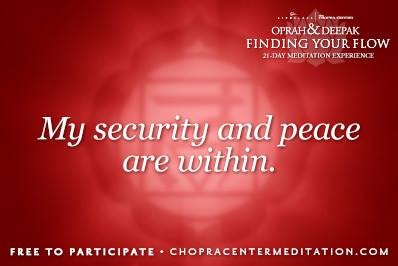my security and peace are within