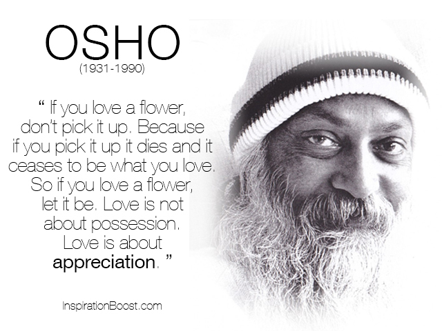 Osho if you love a flower