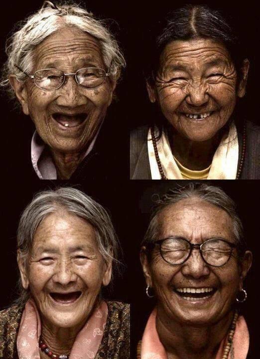 elder tibetan grandmothers