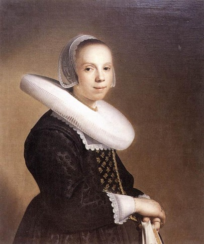 """Portrait of a Bride"" by Johannes Cornelisz Verspronck, 1640"